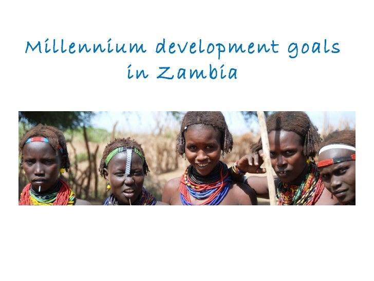 Millennium development goals  in Zambia