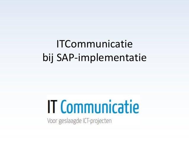 ITCommunicatie bij SAP-implementatie