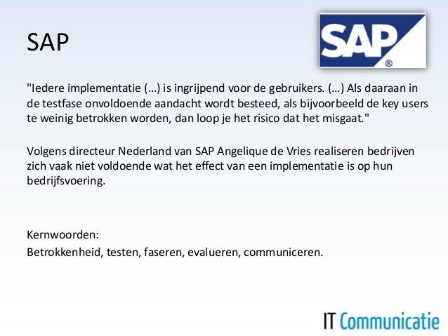 SAP-implementatie communicatie Slide 2