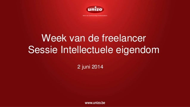 Week van de freelancer Sessie Intellectuele eigendom 2 juni 2014