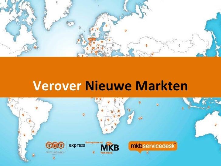 Webinar ExportVerover Nieuwe Markten                      September 2011
