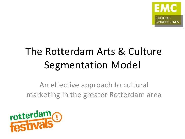 The Rotterdam Arts & Culture    Segmentation Model   An effective approach to culturalmarketing in the greater Rotterdam a...