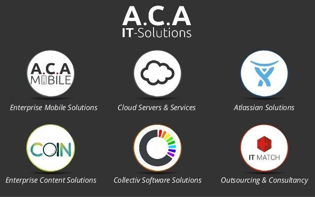 Cloud Servers & Services Atlassian SolutionsEnterprise Mobile Solutions Enterprise Content Solutions Collectiv Software So...