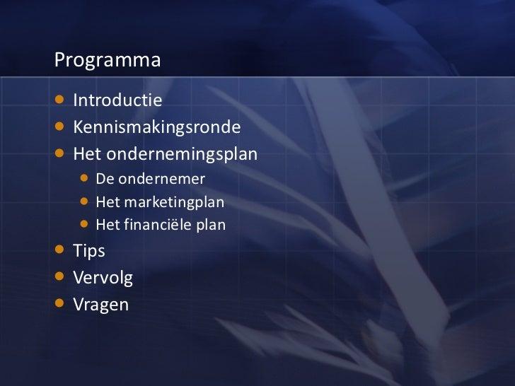 presentatie ondernemingsplan Presentatie startersworkshop Let's get started presentatie ondernemingsplan
