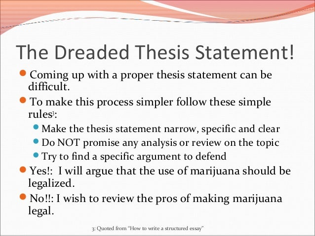 coming up with a thesis sentence A thesis statement must always be a complete sentence in some  if you are  having trouble coming up with a thesis, try this writing exercise: 1 write your first .
