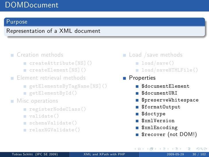 XML and XPath with PHP