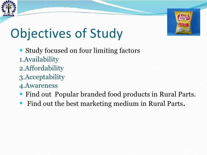Objectives of Study <ul><li>Study focused on four limiting factors </li></ul><ul><li>1.Availability </li></ul><ul><li>2.Af...