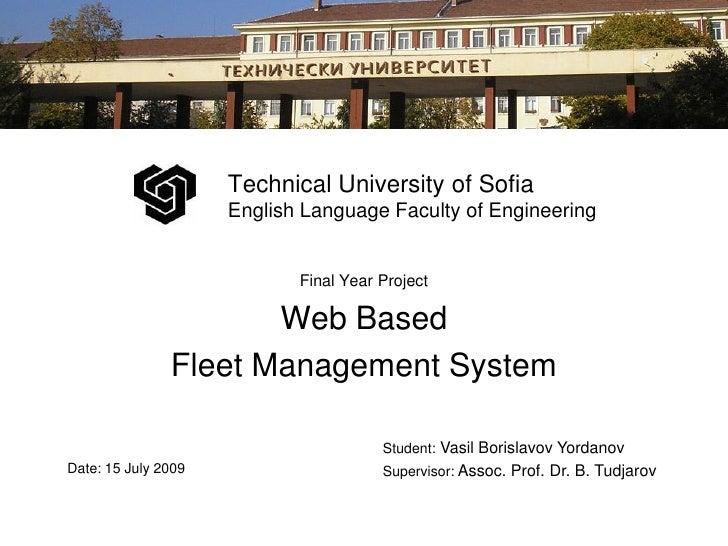 Technical University of Sofia                      English Language Faculty of Engineering                               F...