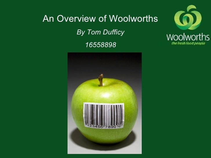 Analysis of woolworths and wimpy
