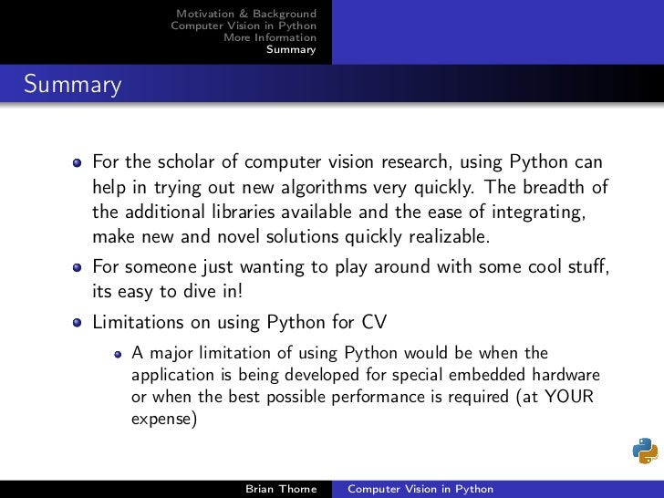 python in computer vision