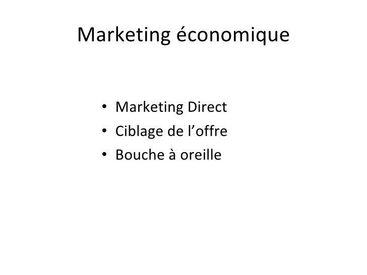 Une Stratégie Marketing économique : Les Réseaux Sociaux Slide 2