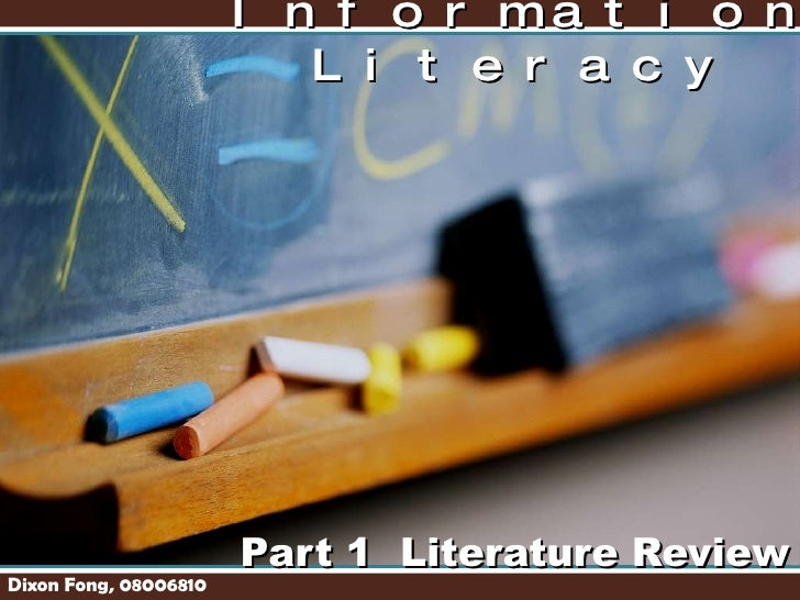 Part 1 Literature Review MIT 6109 Information Literacy Dixon Fong, 08006810