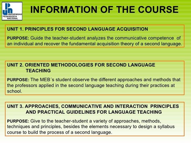 Language Acquisition Principles