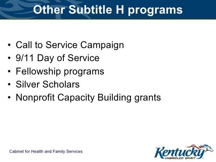 kentucky cabinet for health and family services successful multi generational volunteer programs 18066