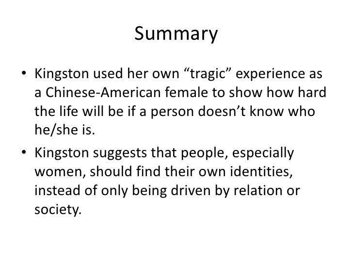 the woman warrior summary