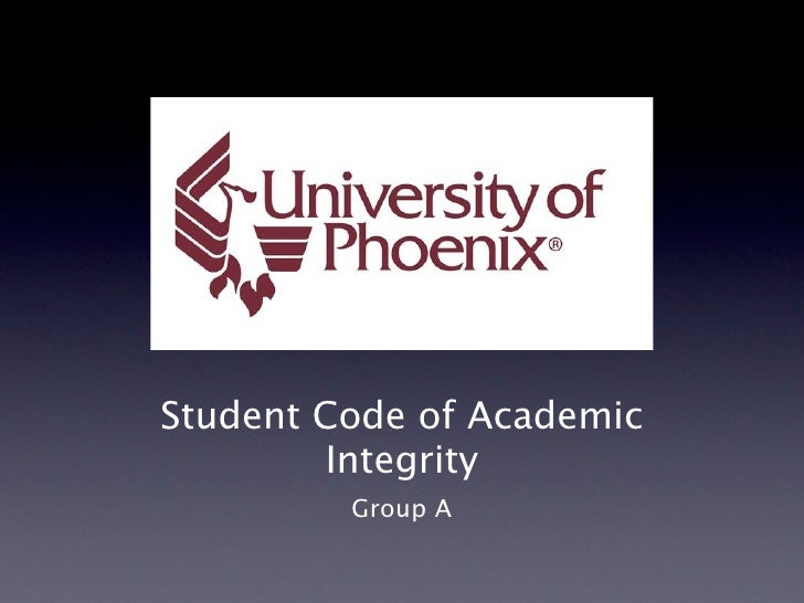 Student Code of Academic          Integrity          Group A