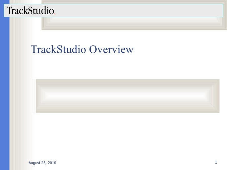 TrackStudio Overview