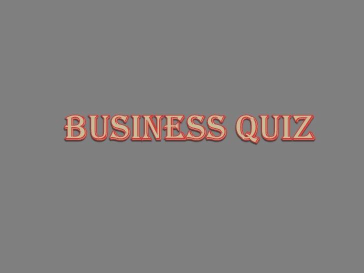 BusinessQuiz<br />