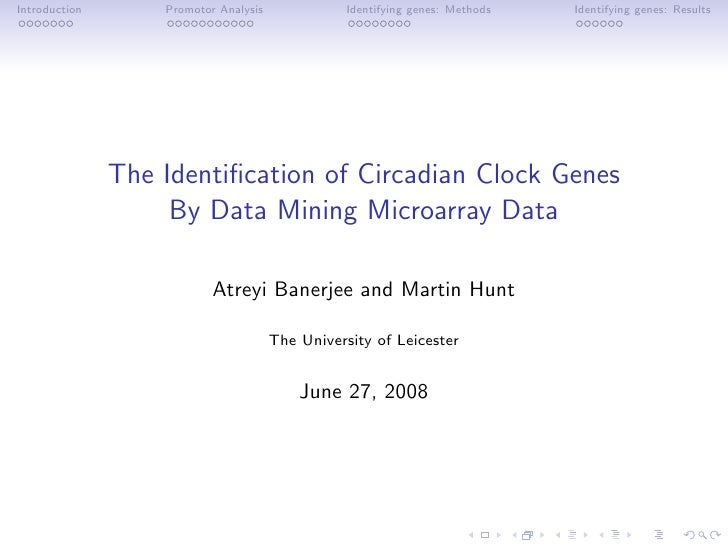 Data mining of circadian clock genes