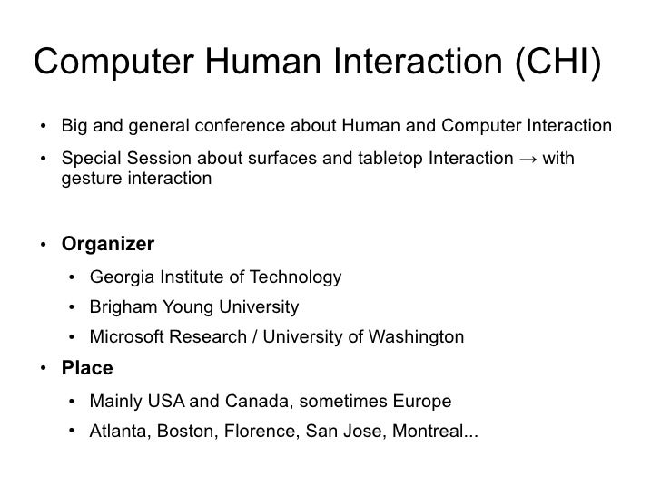 human computer interaction research paper Human computer interaction and medical devices devices in healthcare requires applied human computer interaction (hci) research and this paper shows that.