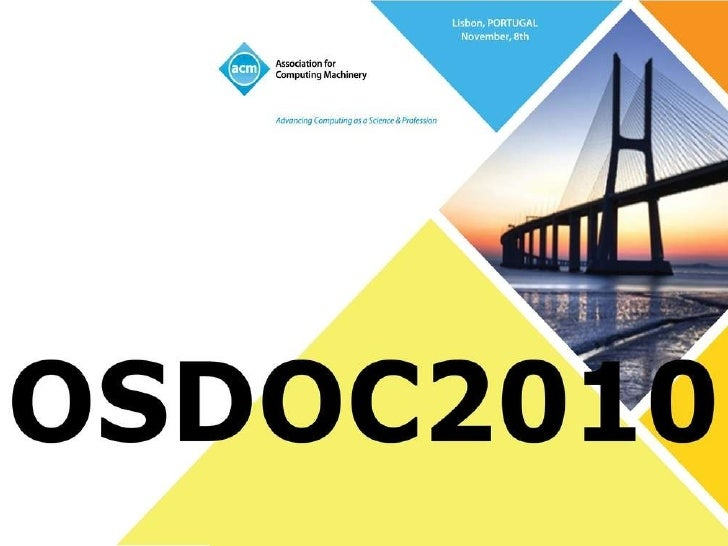 OSDOC 2010 Welcome Slide 2