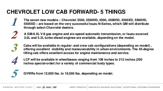 5 Things About Chevy Low-Cab Forward