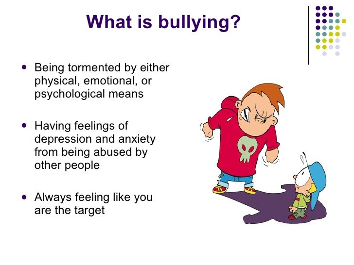 an analysis of bullying