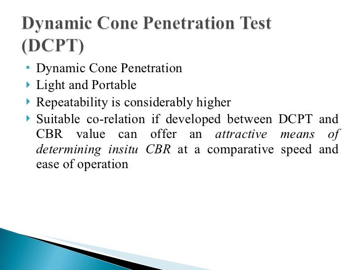 dynamic cone penetration test procedure