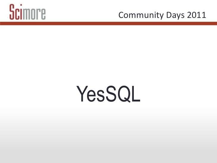 YesSQL<br />
