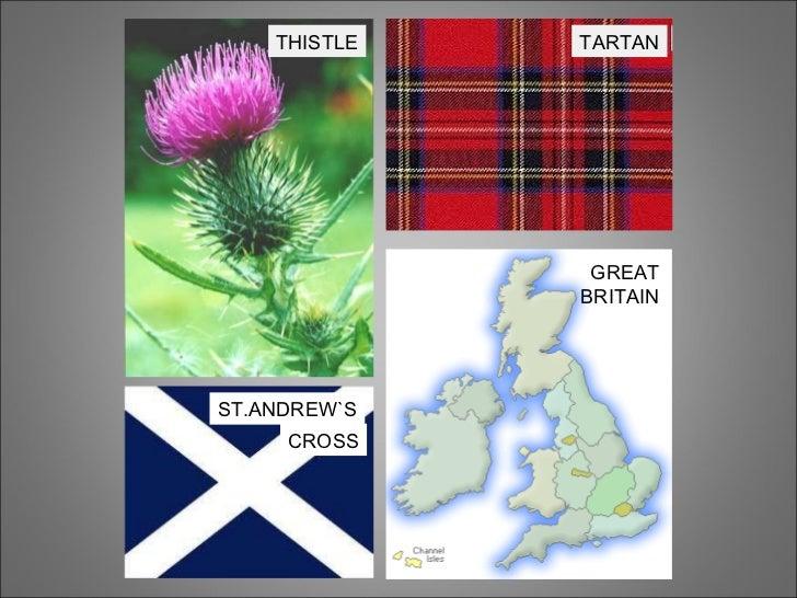 THISTLE TARTAN ST.ANDREW`S CROSS GREAT BRITAIN