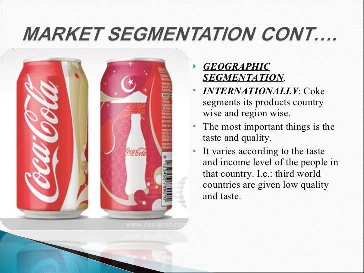 coca cola demographic segmentation