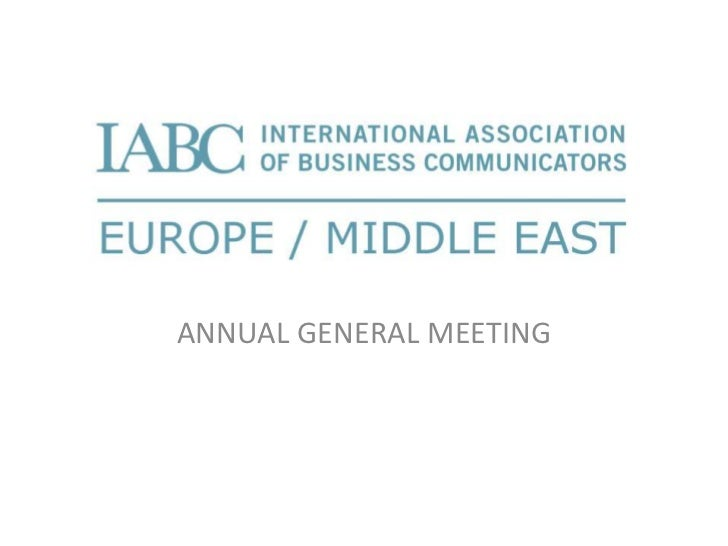 ANNUAL GENERAL MEETING<br />