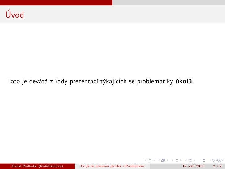 Co je to pracovní plocha v Producteev Slide 2