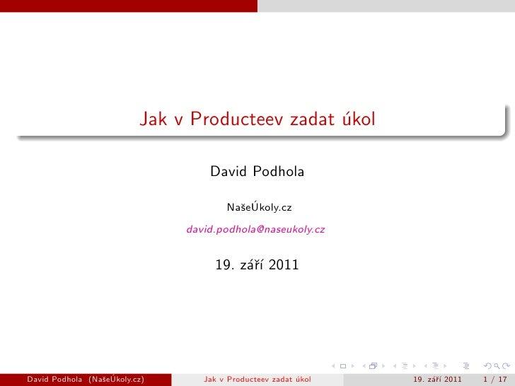 Jak v Producteev zadat ukol                                                 ´                                   David Podh...