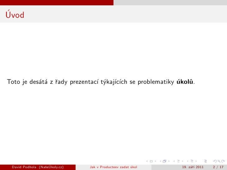 Jak v Producteev zadat úkol Slide 2