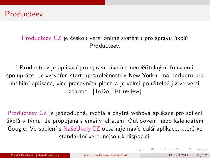 Jak v Producteev zadat úkol Slide 3