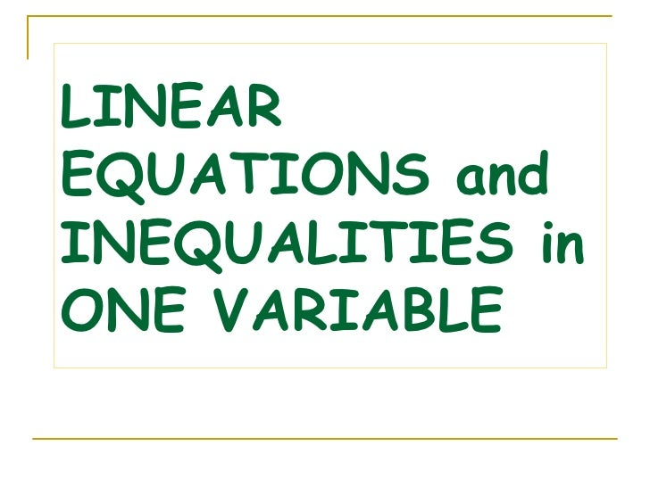 Linear Equations and Inequalities in One Variable – Linear Inequality Word Problems Worksheet