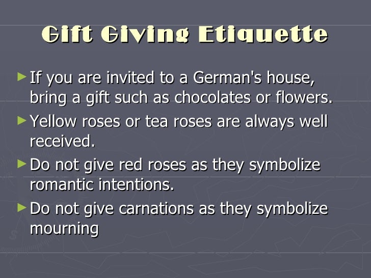 Business etiquette of germany 16 gift giving etiquette m4hsunfo