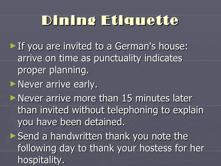 Business etiquette of germany 17 dining etiquette m4hsunfo