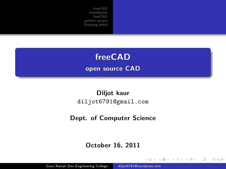 freeCAD                        Installation                           freeCAD                     pyhton scripts          ...