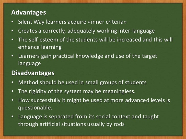 advantages of using diagrams in teaching silent way teaching method