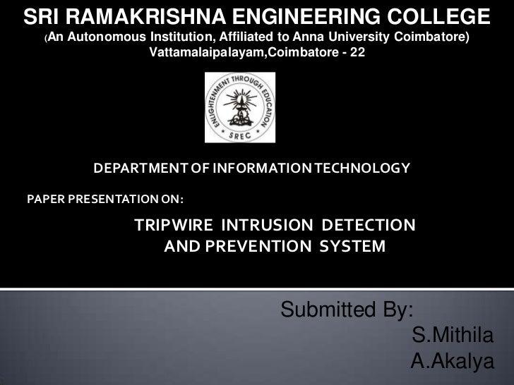 SRI RAMAKRISHNA ENGINEERING COLLEGE  (An   Autonomous Institution, Affiliated to Anna University Coimbatore)              ...
