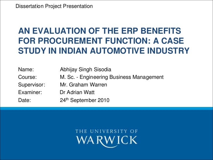 PIM – Procurement and InventoryDissertation Project Presentation Management In-Module Work – Final Presentation AN EVALUAT...