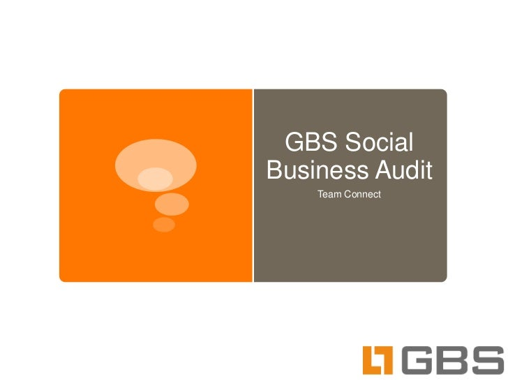 GBS SocialBusiness Audit    Team Connect