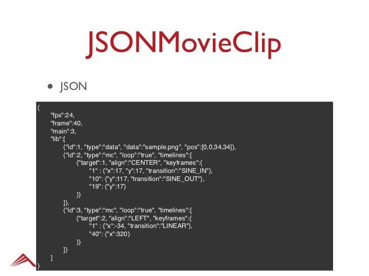 """JSONMovieClip•   JSvar ajax = new arc.Ajax();var self = this;ajax.addEventListener(arc.Event.COMPLETE, function(){"""" var mc..."""
