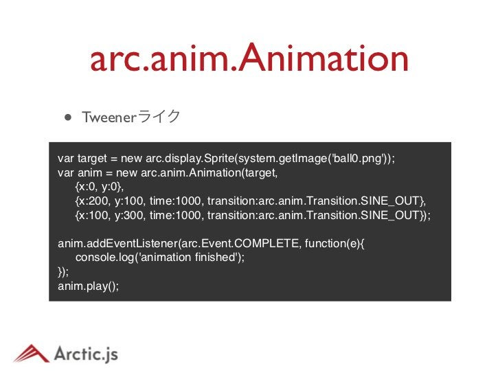 arc.anim.Animation• DEMO