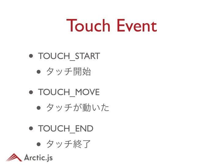 Touch Eventvar sprite = new arc.display.Sprite(system.getImage(ball.png)),sprite.addEventListener(arc.Event.TOUCH_START, f...