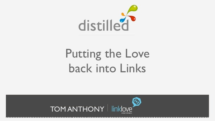 Putting the Love    back into LinksTOM ANTHONY