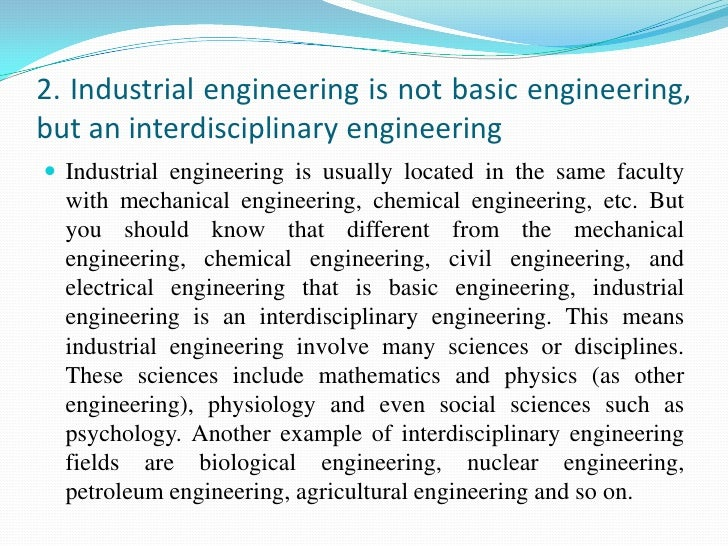 Things You Should Know About Industrial Engineering