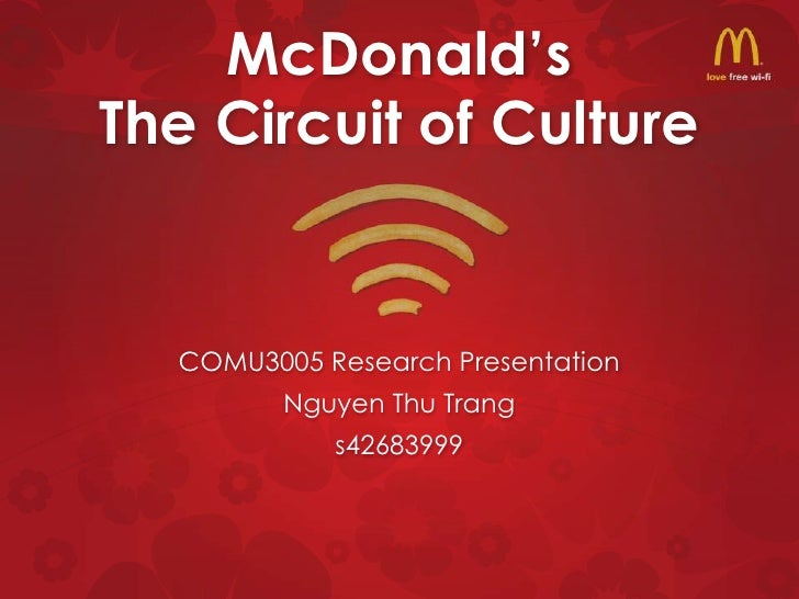 McDonald'sThe Circuit of Culture  COMU3005 Research Presentation         Nguyen Thu Trang            s42683999